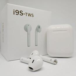 Canada 2019 Nouveau I9 i9s Bluetooth Mini écouteurs double oreille sans fil Casques avec micro pour iPhone 8 7 Plus 6s supplier iphone plus bluetooth Offre