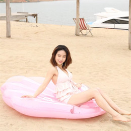 Wholesale children pool safety - Inflatable Scallop Summer Floating Row Children Adult Rowing Boat Swim Ring Surfing Beach Pool Water Floats Mat Safety Products 68JL Y