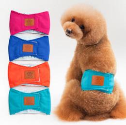 Pantalones mascotas fisiológicos online-Cachorro Mascotas Mascotas Perro Perro Pantalones Fisiológicos Ropa Interior Sanitaria Banda para el Vientre Algodón Pañal S M L XL