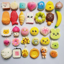 Wholesale Mini Retail - Mini Kawaii Small Squishy Super Slow Rising Squishies Scented Bread Squeeze Animals Bun Kid Toys PU Foam Funny Phone Straps Charms STS220