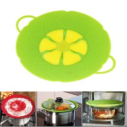 Wholesale Dust Stoppers - Flower Petal Boil Spill Stopper Silicone Lid Pot Lid Cover Silicone Spill-proof and Dust-proof Pot Cover Kitchen Tool T1I234
