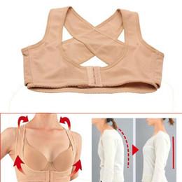 Wholesale women belt bras - Newest Women Bra Body Shaper Corset Tops Posture Corrector Back Lift Belt Back X Type Design Sculpture Back Chest Lines Underwear
