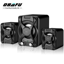 Wholesale Mini Stereo Stand - Subwoofer Stereo Bass USB 2.1 Speaker Atmosphere 3D Surround Stereo PC Speakers MP3 for Smartphone Computer