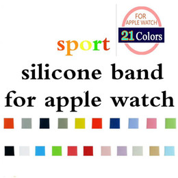 Wholesale replacement straps - OEM New Design 21 Colors More Silicone Sport Band Replacement For Apple Watch Band Wrist Strap With Adapters Accessories OEM Product Service