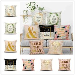 sfondo per il divano Sconti 7 stili INS Nordic federa Freash stile marmo sfondo cuscino copertura in fibra di lino divano auto federa