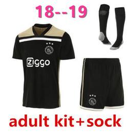 01f57a642 AA Mejor calidad 2018 2019 uniformes Ajax FC Away Soccer Jerseys 18 19  DOLBERG ZIYECH HUNTELAAR YOUNES MEN Ajax Football Shirt kit