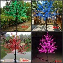 fiore m Sconti LED Cherry Blossom Tree Light 480 ~ 2304 pz LED Lampadine 1.5m ~ 3m Altezza 110 / 220VAC Sette colori per la decorazione di nozze