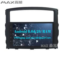 Wholesale Mitsubishi Car Stereo Gps - 2G+16G Car DVD Player for Mitsubishi PAJERO V97 2006 2007 2008 2009 2010 2011 2012 2013 2014 2015 with Radio GPS map BT