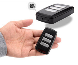 Wholesale Hd Keychain Cameras - 4K Full HD H.264Spy car key camera with Mini DV DVR Keychain hidden camera video recorder