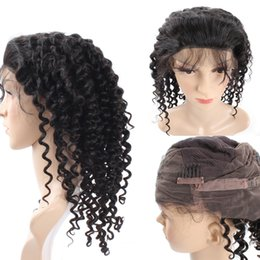 Wholesale Black Women Hair Products - Ishow Products Deep Wave Pre Plucked Lace Front Human Hair wigs with Baby Hair for Black Women Brazilian Non-Remy Hair Wig Natural Color