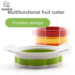 Küchenutensilien gadgets großhandel online-Großhandel Obst Gemüse Werkzeuge Zwiebelschneider Apfelschäler Slicer Edelstahl Küchenutensilien Gadgets Mit Kleinen Schneidebrett