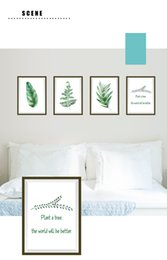 Wholesale Self Adhesive Photo Frame - Nordic Style Plant Photo Frame Decoration Wall Sticker PVC Art Background Living Room Home Decor Sticker Mural