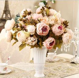 Canada Style européen 18 couleurs pivoine artificielle fleur décoration fête fleur famille hôtel mariage bureau jardin décoration TO607 cheap european wedding decorations Offre