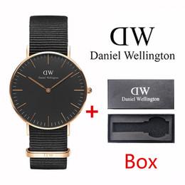 Топ классические модные повседневные трендовые бренды 40 мм мужские и женские 36 мм модные повседневные спортивные часы классические черные нейлоновые полотна мужские кварцевые часы от
