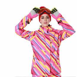 Donne Giacche da sci Giacca da neve Impermeabile cappotto termico antivento Escursioni Campeggio Giacca da ciclismo Inverno Giacca a vento da donna cheap women winter cycling jackets da giacche da ciclismo invernale fornitori