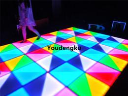Wholesale 5mm Green Light - Free shipping 432pcs*5mm night club dance floor rgb dmx waterproof wedding led dancing floor stage lights