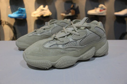 Wholesale brown leather boots sale - Hot Sale Boost 500 Blush Desert Rat Kanye West Wave Runner 500 Sneakers Running shoes Athletic Sneaker Outdoor boots