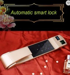 Wholesale Rfid Hotel Locks - Rfid digital closet remote control electric hotel room card keyless face recognition gate self locking door lock system