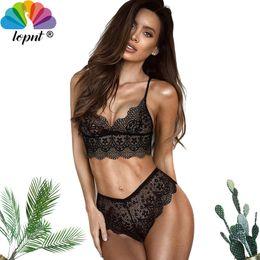 935ba9e860 2018 lopnt transparent push up bra set lace top bra and panty set big size underwear  women bralette sexy lingerie lenceria inexpensive transparent bra panty ...