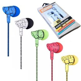 Deutschland Rissmuster Nylon geflochtene Kopfhörer 1,2 m verdrahtet Headset Handy Kopfhörer In-Ear-Universal-Drahtsteuerung Ohrhörer für Samsung MP3 Versorgung