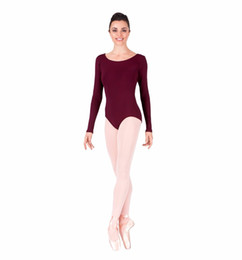 fb7118a0a10e Wholesale-Adult Gymnastics Long Sleeve Leotard Bodysuit Womens Spandex Lycra  One Piece Dance Leotard Dancewear