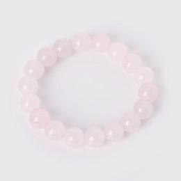 2019 rosenquarzperlen 8mm Charm Armband mit Naturstein Perlen 6mm 8mm 10mm Rose rosa Quarz elastische Schnur Perlen Armbänder für Mann Frauen Bijoux rabatt rosenquarzperlen 8mm