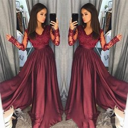979345f6c68ec8 red lace peplum top Promo Codes - 2018 Spring Vintage A Line Satin Prom  Dresses Long