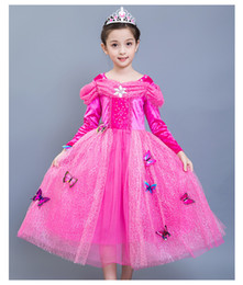 6fc5dcc7378f Long Sleeve Princess with imperial crown Girls Dresses Christmas Gift  Cosplay Baby Clothes Tulle Tutu Floor Length Girls Party Dresses imperial  dresses on ...