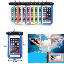 Wholesale plain phone case cover - WaterProof phone Pouch transparent Bag Dry Case Cover For Phone outdoor Diving Swimming colorful bag FFA338 1000PCS purse