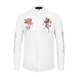 ed83acdf 2018 New Luxury Men Long Sleeve Cotton Casual Shirts Designer 3D Slim Fit  Fashion England Shirts on Sale M-XXXL X302 P85