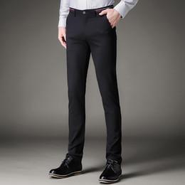 cf64e1697c2 Jbersee Men Dress Pants Formal Pants Slim Fit Suit Business Casual Wedding  Men Black Mens Dress Trousers perfume masculino