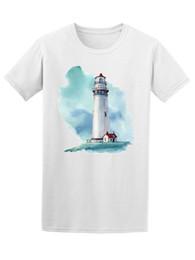 Immagini di stampa a mano online-T-shirt da uomo disegnata a mano con acquerello e acquerello -Immagine di Shutterstock T-shirt da uomo con maglietta bianca stampata da bambino