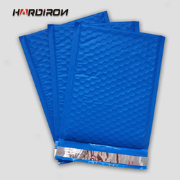 Wholesale Mail Types - HARD IRON Poly Bubble Mailer padded Mailing Bags Blue Color PE Ship Pack Shockproof Courier Pouches Bubble Envelope bags