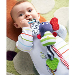 Wholesale Infant Music Toys - Baby Rattles Wholesale Infant Kids Music Elephant Hanging Hand Bed Stroller Soft Dolls Educational Toys Teether Rattles