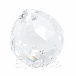 Wholesale Prism Crystal Suncatcher - Clear Crystal Lamp Ball Hanging Prism Suncatcher Wedding Decor 20mm #W0906S#