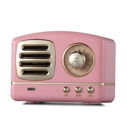 Mini haut-parleur bluetooth rose en Ligne-HM11 Retro Radio Haut-parleur Bluetooth Vintage Mini Haut-parleur Bluetooth Nostalgique Heavy Bass Basse Stéréo Surround 3D Effets Sonores rose
