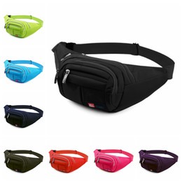 Wholesale waist bags for running - 9 Colors Patchwork Waist bag Unisex Waistpack For Outdoor Sports Climbing Cycling Running Size Free Waterproof Travel Bags NNA369