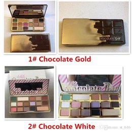 Wholesale Gold Bar Chocolate - New Faced Chocolate White Chocolate Bar & Gold Chocolate Bar Eyeshadow 16 Colors Palette Shimmer Matte High-quality Eye palette DHL Free