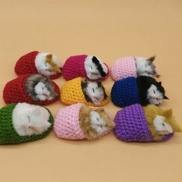Wholesale Slipper Stuffed - Cartoon Plush Stuffed Animals Toy Lifelike Simulation Slipper Cat Multi Colors Talking Ornaments For Birthday Party Gift 6hy B