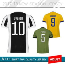 Wholesale Soccer Jersey Customized Yellow - 2017 2018 New version Home Soccer Jersey 17 18 soccer shirt Customized 5 PJANIC #10 DYBALA #9 HIGUAIN #17 MANDZUKIC #33Bernardeschi footbal