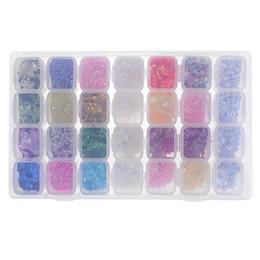 28 Slots Plastic Holder Art Rhinestone Set 28 en 1 cuentas de la joyería de lentejuelas de clavo con la caja de almacenamiento Display organizador del caso desde fabricantes