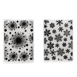 Wholesale Wholesale Paper Snowflake Decorations - Christmas Decorations Snowflake Craft Dies Fireworks Embossing Folder Album Paper Card Xmas Scrapbooking Clear Stamp