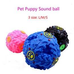 Wholesale Dog Squeaker Ball - Dog Sound leakage Food Ball Dog Toys Ball molars Chews Toy Cat Pet Sound Toy Puppy Squeaker Toys No Battery