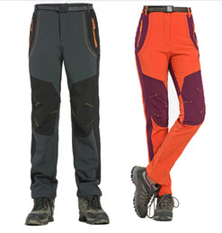 Wholesale gore tex pants - Outdoor Trousers New Winter Men Women Hiking Pants Outdoor Softshell Trousers Waterproof Windproof Thermal for Camping Ski Climbing