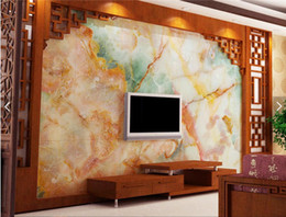 Wholesale Marble Wall Paper - Colorful Marble Contact Paper 3D Photo Wall Mural Living Room TV Background Wall Paper Covering Murals Rolls Wall Art Decor