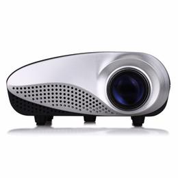 Argentina RD802 Mini proyector portátil de cine en casa LED LCD Beamer USB / VGA / HDMI Vídeo de dibujos animados para niños Cine Proyector de películas RD-802 Envío gratis cheap mini hdmi projector free shipping Suministro