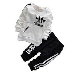Bebê menina roupas tutus on-line-AD bebê meninos meninas fatos de treino crianças marca fatos de treino crianças casacos calças 2 pçs / sets crianças roupas venda quente nova moda primavera outono.