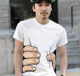 Wholesale T Shirts For Men Wholesale - Fashion Men's Clothing O-neck Short Sleeve Men Shirts 3D Big Hand T Shirt men Tshirts Tops Tees For Man free shipping