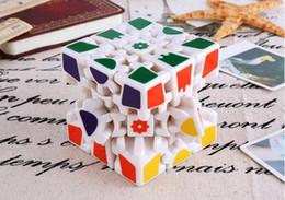 Brinquedos adultos girando on-line-Cubo Enigma brinquedos Magia 3 x 3 x 3 Engrenagens Gire Etiqueta Do Enigma Adultos crianças Brinquedo Educativo cubo