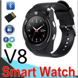 english for kids Coupons - V8 Smart Watch Bluetooth Watches Android with 0.3M Camera MTK6261D DZ09 GT08 Smartwatch for apple android phone with Retail Package XCTV8